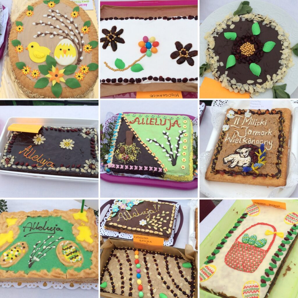 Polish Mazurek cakes in Easter festival cake competition
