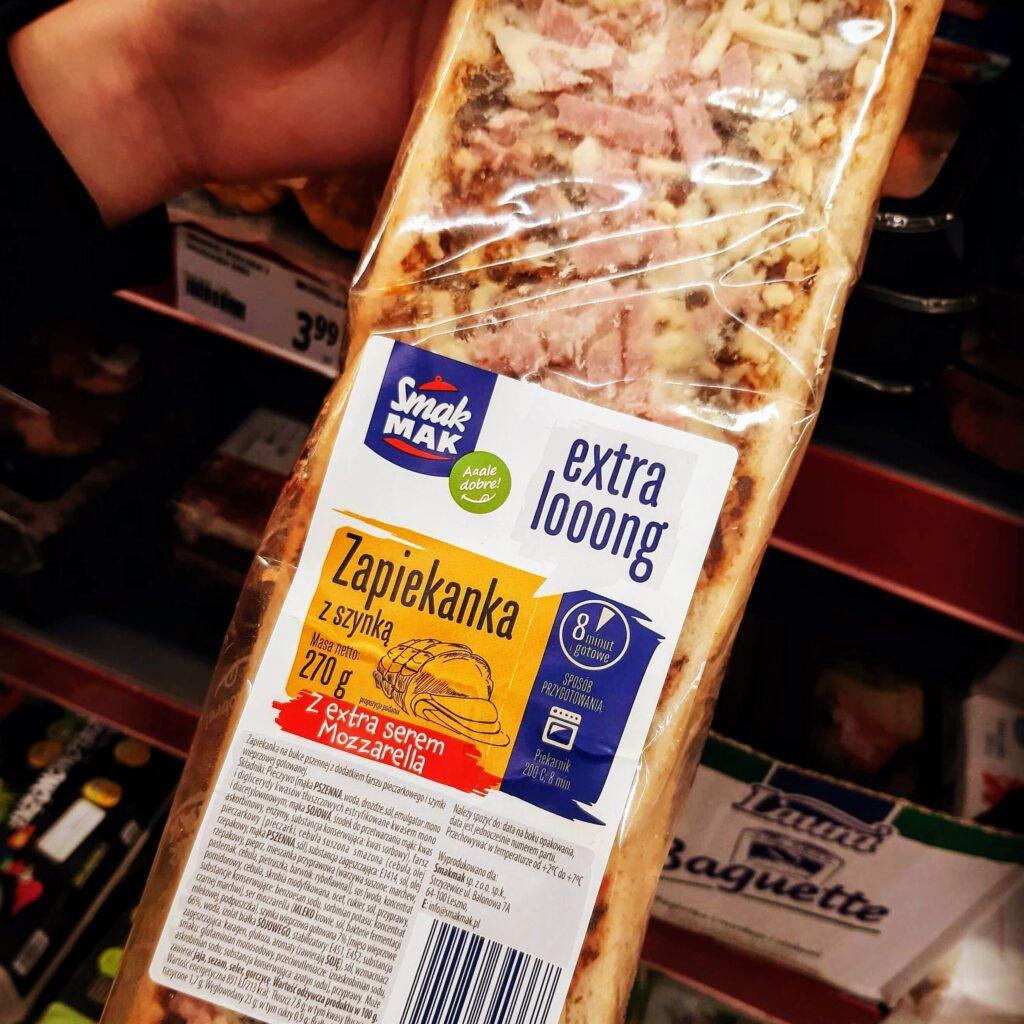 Picture of Polish bread pizza called Zapiekanka